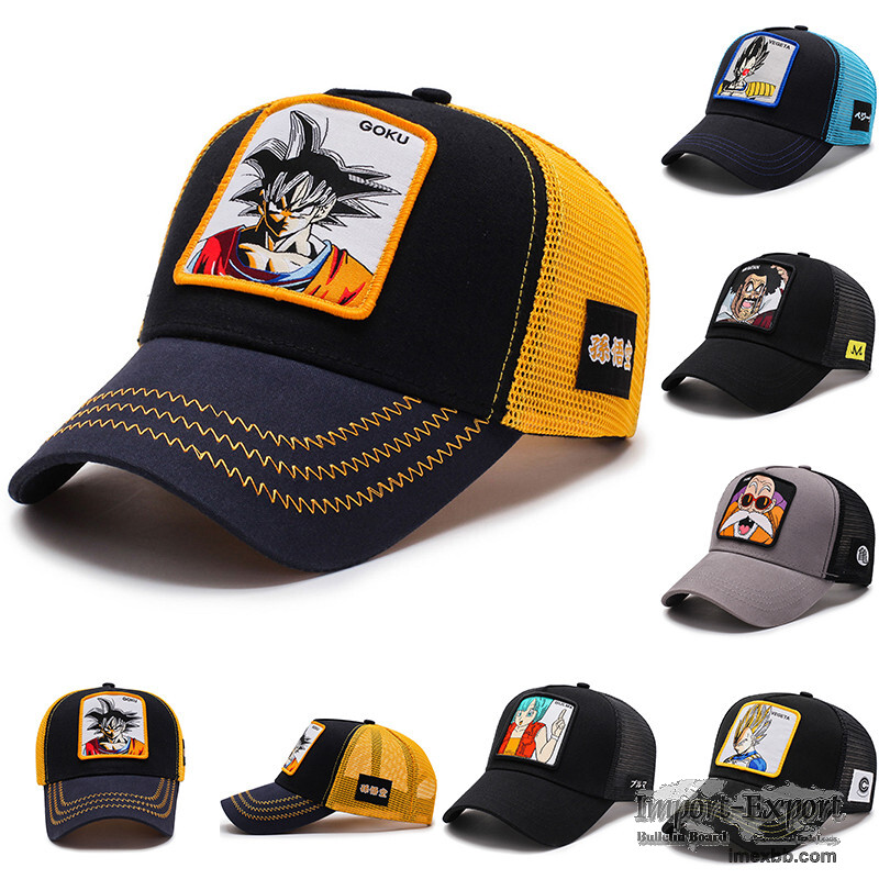 Hot selling trucker cap animal carton embroidery caps for boys 100% cotton