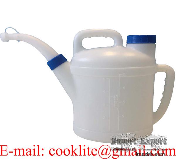 Oljemått Plastmått Vatten Olje Kanna 5 Liter Litersmatt Vatskematt