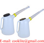 Oljemått 5 liter med utlopp, polyetylenbehållare