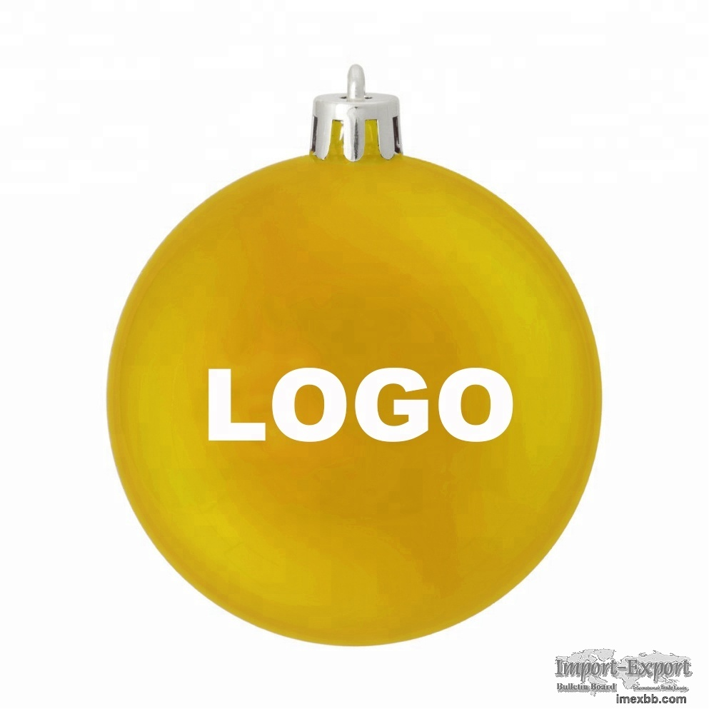 Promotional Good Quality Plastic and Glass Customized Christmas LOGO Ball