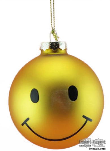New Design Salable Christmas Glass Hanging Ornament Decoration
