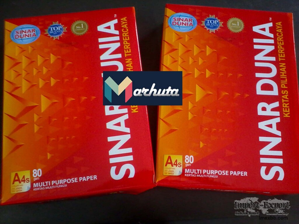 Best quality Sinar Dunia A4 paper 80 GSM