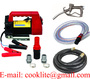 Portable electric diesel oil fuel transfer extractor pump motor self primin