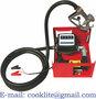 Pompa electrica motorina de 12/24v in carcasa metalica cu debitmetru mecani
