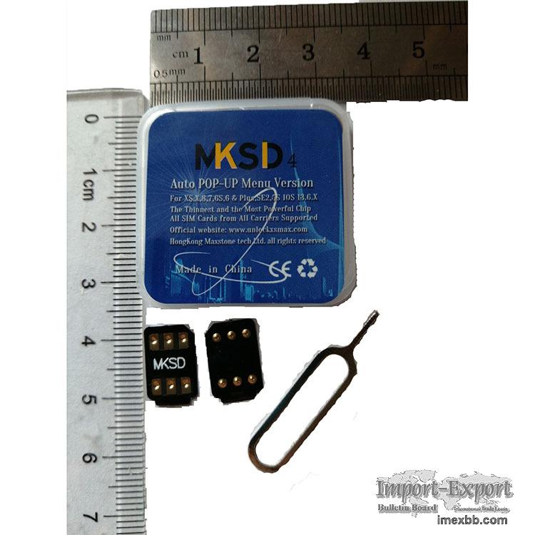 MKSD4 rsim hei card turbo unlock sim iphone iccid carrier Menu pop-up