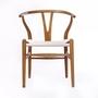Ash Wood Chestnut Shell Hans Wegner Wishbone Chair Comfortable