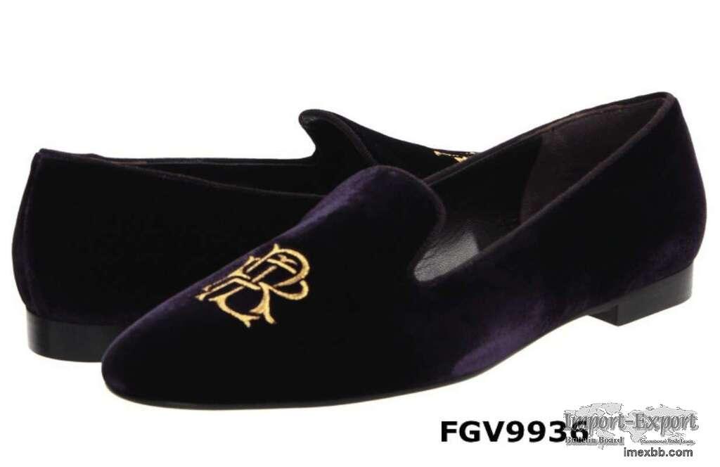 Custom velvet loafers for wedding present