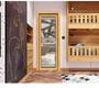 Single Leaf 6063 Aluminum Swing Doors Wood Surface Waterproof 8mm Hollow Gl