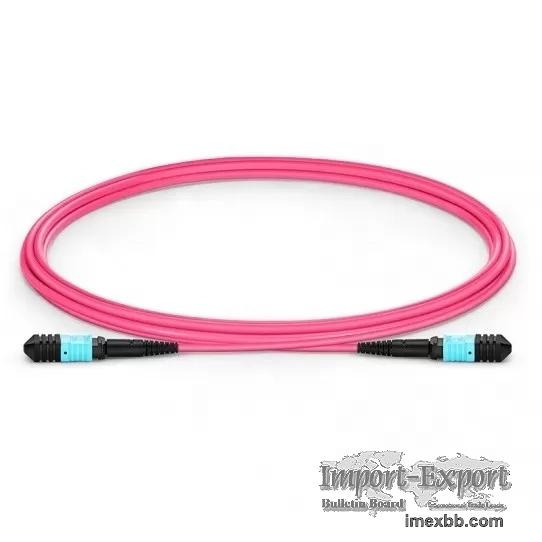 OM3 MPO MTP Patch Cord 3M PVC / LSZH Aqua MPO Trunk Cable