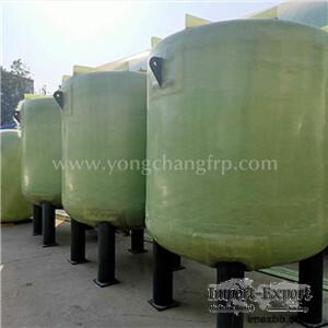 FRP Composite Storage Tank   FRP Horizontal Acid And Alkali Tank