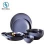 Round Plain Purple Modern Porcelain Dinnerware Sets 1280C Fired