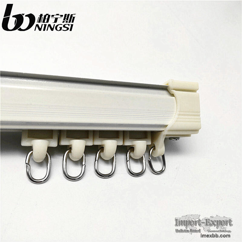 0.8mm Thickness 6m Length Aluminum Curtain Track Ceiling Mounted