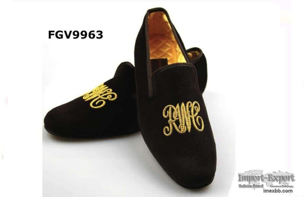Own logo velvet slippers