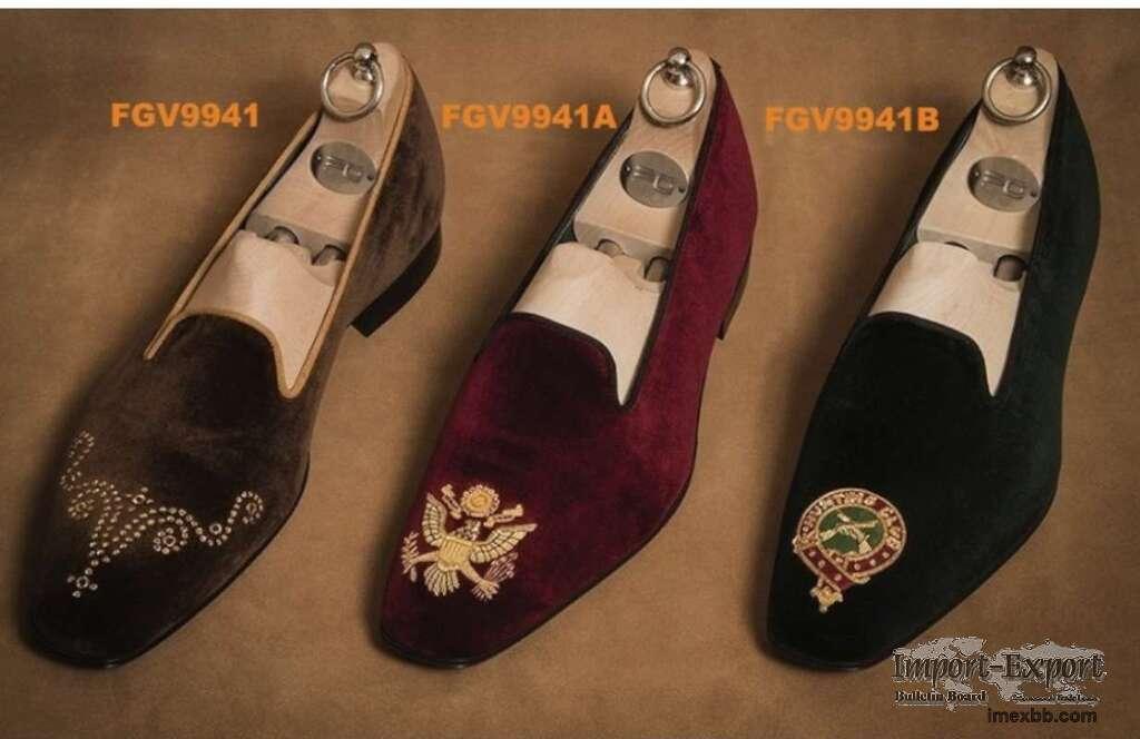 Personalized velvet slippers