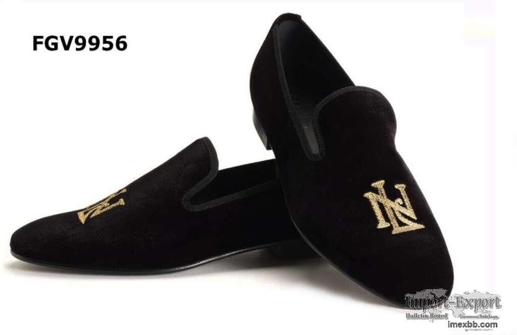 Custom made velvet loafers