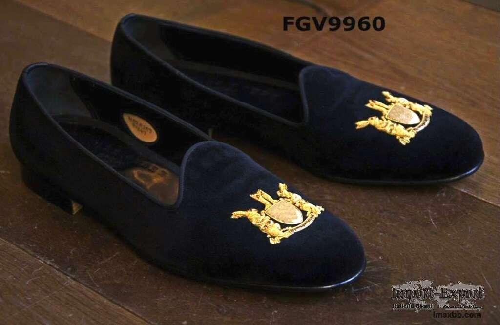 Partywear velvet loafers