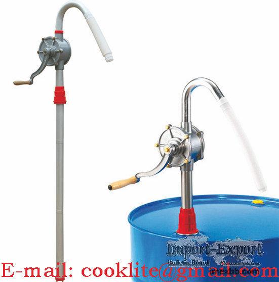 Pompe manuelle rotative en alu / Pompe manuelle rotative gasoil et huile