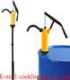 Drum Dispenser Pump / Polypropylene Lever Style Hand Chemical Pump