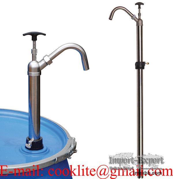 Stainless Steel Piston Drum Pump For Dispensing Aggressive MEK Acetone Tolu