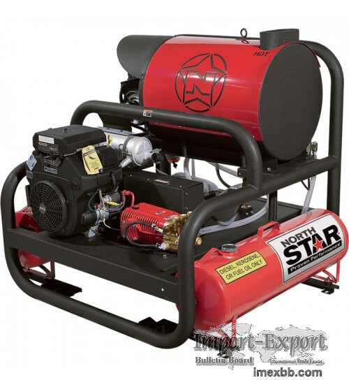 NorthStar Hot Water Pressure Washer Skid with 2 Wands 4.000 PSI, 7.0 GPM