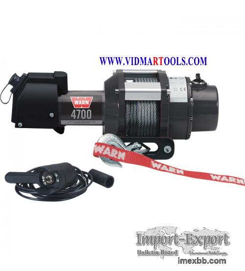 WARN 12 Volt DC Powered Electric Utility Winch - 4700-Lb. Capacity, Galvani