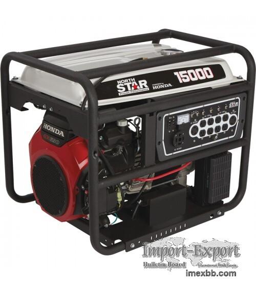 Portable Generator 15,000 Surge Watts, 13,500 Rated Watts, Electric Start