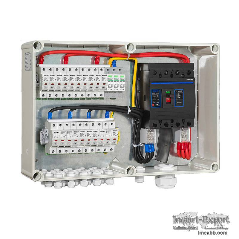ZJBENY BHS-10/1 1000V DC Solar PV Combiner Box 10 In 1 Out 250A DC Isolator