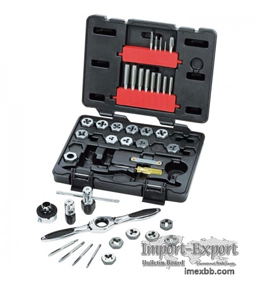 Gear Wrench Tap and Die Drive Tools 40 Pc SAE Set