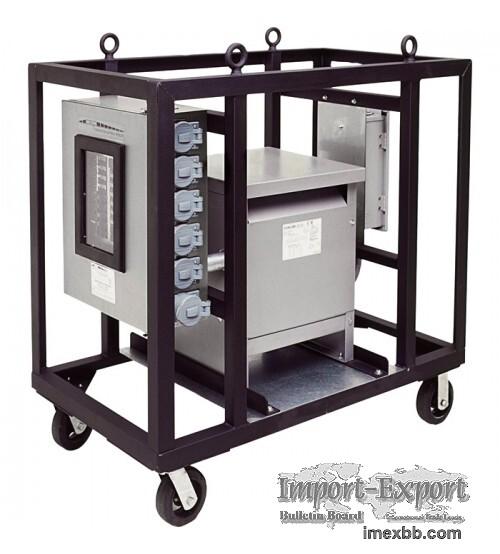 CEP Portable 4-Wheel Power Distribution Cart for Generators - 480 Volts, 10