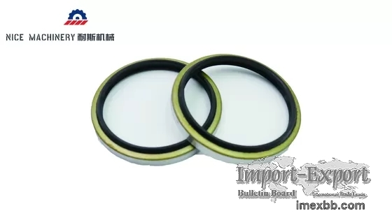 DBK Excavator Spare Parts NBR Material Black Hydraulic Oil Seal