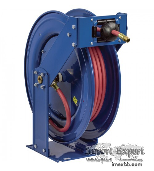 Coxreels Truck Series Maximum-Duty Air Hose Reel - With 3/8in. x 50ft. PVC