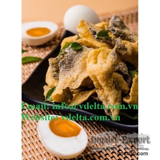 Salted Egg Fish Skin Snack