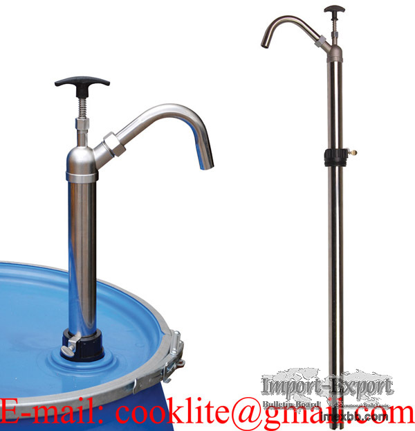 205 Litre Stainless Steel Oil Chemical Hand Drum Barrel Pump