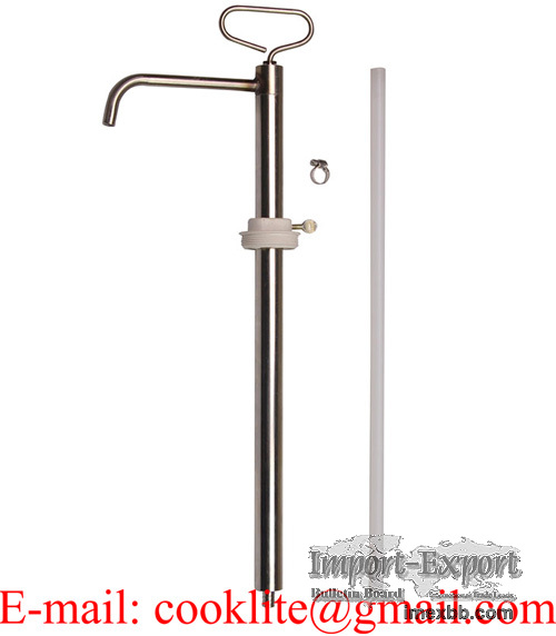 Hand-Operated Stainless Steel Food Approved Piston Drum Pump