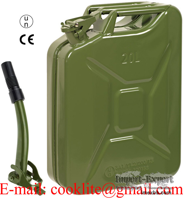 20L Jerry Can Gasoline Gas Fuel Can Metal Emergency Backup Gas Caddy Tank
