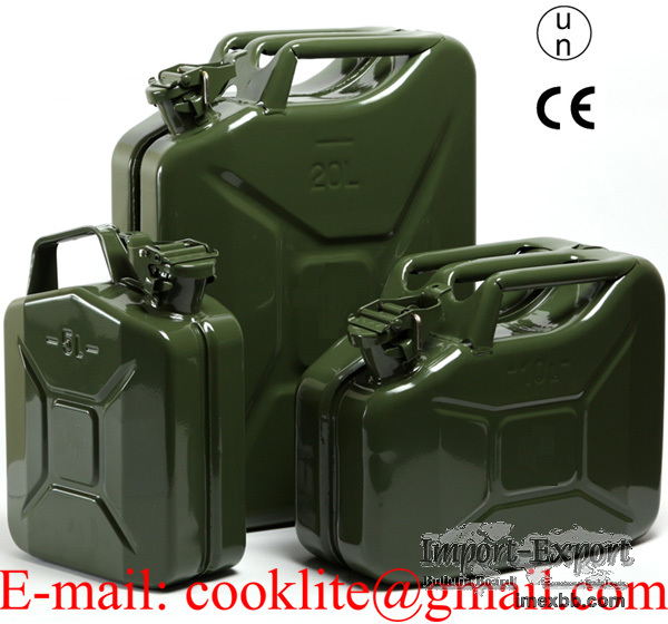 Metal Jerry Can Military Fuel Tank Army Gasoline Diesel Storage Container