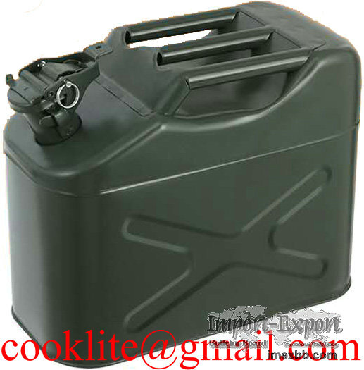 10L Military Jerry Can Gasoline Fuel Diesel Tank Portable Journey Canister