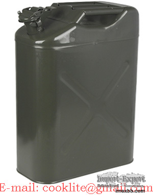 NATO Metal Fuel Can 20L UN Certified Military Spec Diesel Petrol Jerry Can