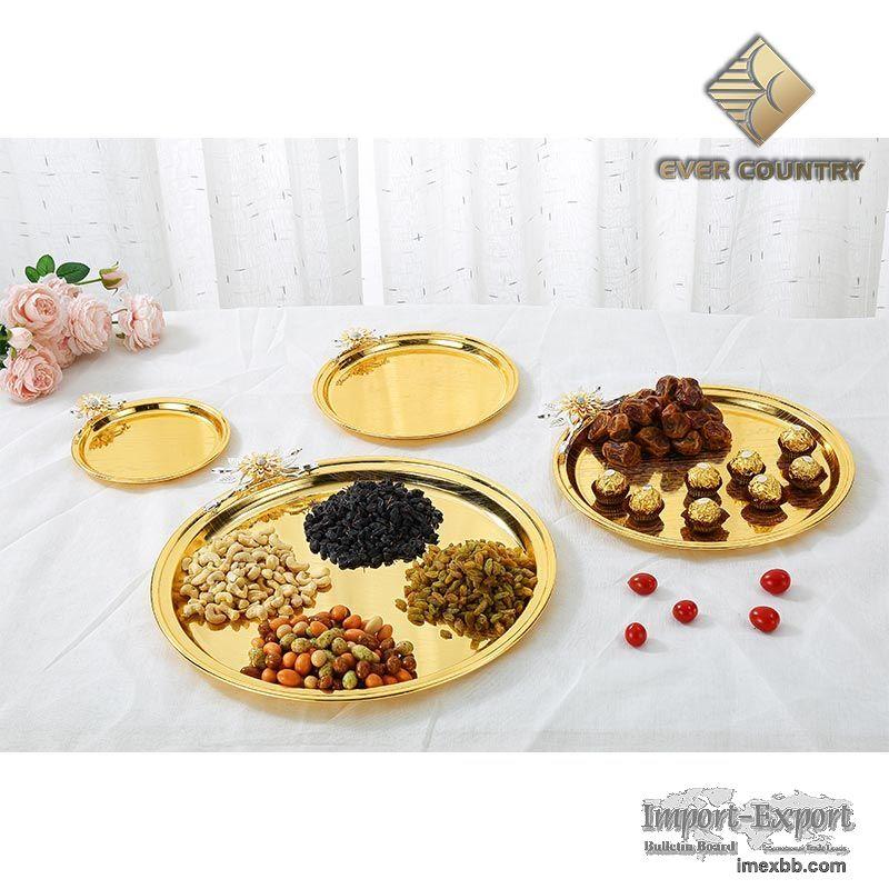 Round serving trays