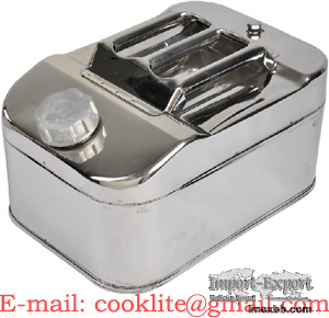 10L Stainless Steel Jerry Can Fuel Petrol Diesel Tank Oil Water Container
