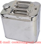 20L StainlessSteel Jerry Can Fuel Water Storage Carrier Tank Built-in Spout
