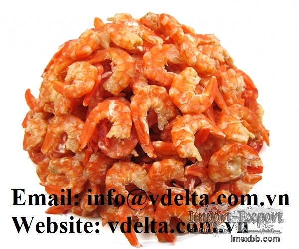 Dried shrimp from fresh shrimp with high quality and good price