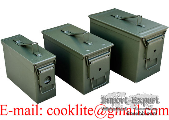 US / NATO Metal Ammo Box Ammunition Case Military Can - M19A1/M2A1/PA108