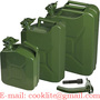 Metal Gas Can 5/10/20L Military Petrol Diesel Fuel Jerry Can - Ebay and Ama