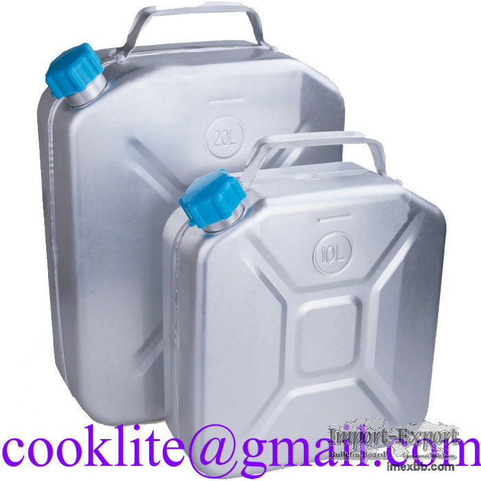 Aluminum Jerry Can Fuel Petrol Diesel Tank Portable Oil Water Container