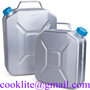 Aluminum Jerry Can For Storage And Transportation Of Gasoline Liquid Fuels