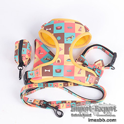 OKEYPETS Personalized Polyester Leash Bandana Collar Harness