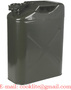 5 Gal 20 Liter Army Jerry Can Gasoline Oil Fuel Can Gas Storage Steel Tank