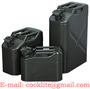 Safety Jerry Can NATO Style Gasoline Fuel Can Metal Gas Tank 5/10/20 Liter