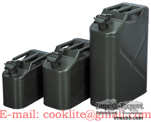 Galvanized Steel Military Jerry Can Gasoline Fuel Can Metal Gas Tank 5/10/2